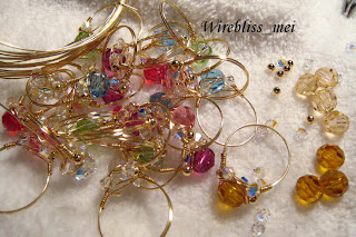 wire wrapped sparkly rings