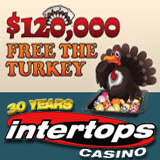 Intertops Casino Players Gobbling Up Thanksgiving Bonuses During Free the Turkey Scoreboard Race
