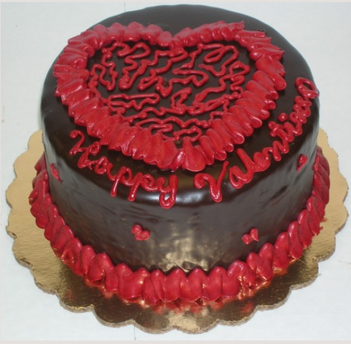 Valentine Cake Ideas Hearts Photograph | Dark chocolate vale