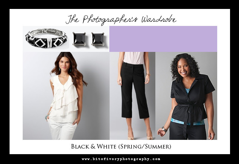 Black and White Photographers Wardrobe What to Wear