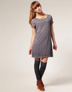 Image 4 ofKookai Short Sleeved Lace Mini Dress