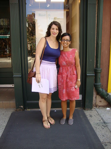 Amy and Antoinette before the Foods of NY Tours of Greenwich Village