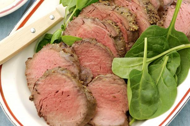 Mustard roast beef with aioli