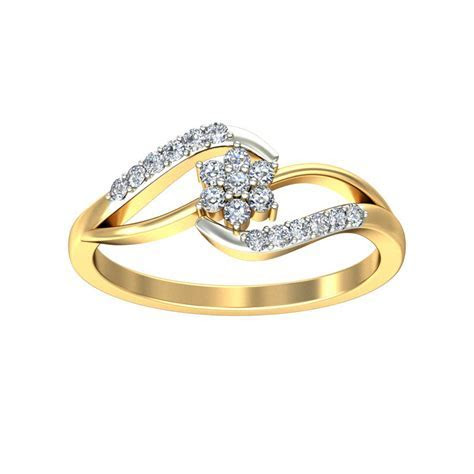 Engagement Ring Designs Real Certified 0.17 Ct Solid Gold