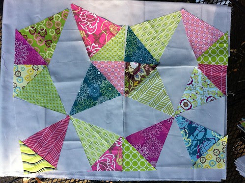 Kaleidoscope quilt-along progress