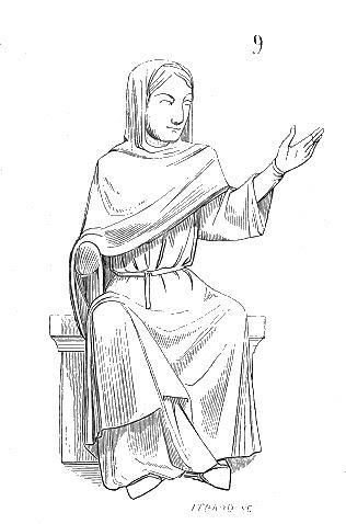 Sculpture de la cathédrale de Laon, représentant la dialectique.