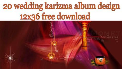 20 Wedding Karizma Album Design 12x36 Free Download   StudioPk