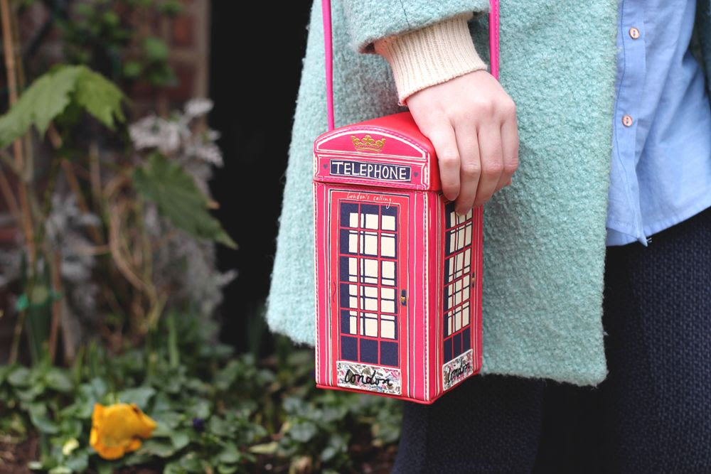 accessorize london telephone box bag