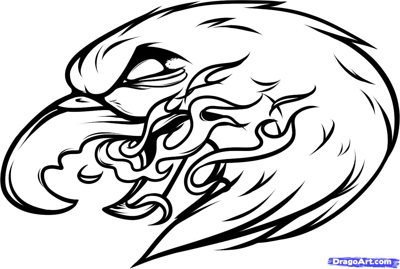 How To Draw An Eagle Tattoo Clipart Panda Free Clipart Images