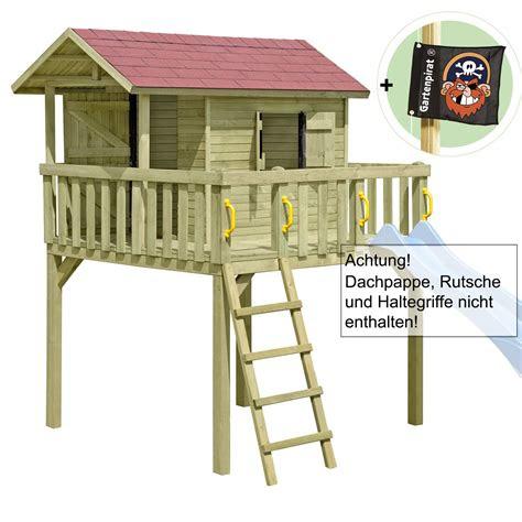 gartenpirat kinderspielhaus stelzenhaus maxi aus holz