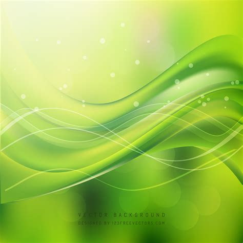 yellow green wave background