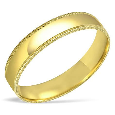 Men's SOLID 10K Yellow Gold Wedding Band Engagement Ring
