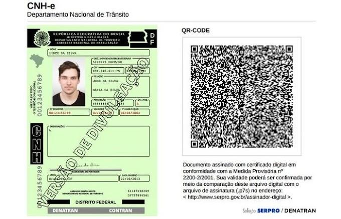 CNH DIGITAL - CNH eletrônica é gratuita na maioria dos estados brasileiros, exceto no Piauí e Goiás