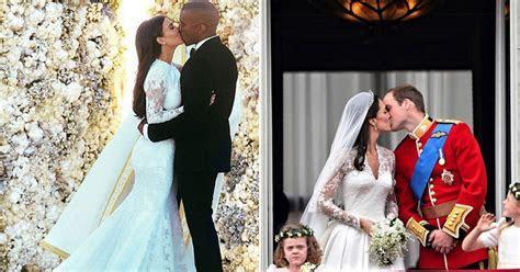 From Wills and Kate Middleton to Kim Kardashian and Kanye