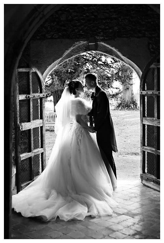 Wedding photography at the Reid Rooms_Essex wedding photography_Phil Lynch Photographer, Bride and groom in church doorway