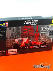Maqueta de coche 1/24 Revell - Ferrari F10 Banco Santander Nº 7, 8 - Fernando Alonso, Felipe Massa 2010 - maqueta de plástico