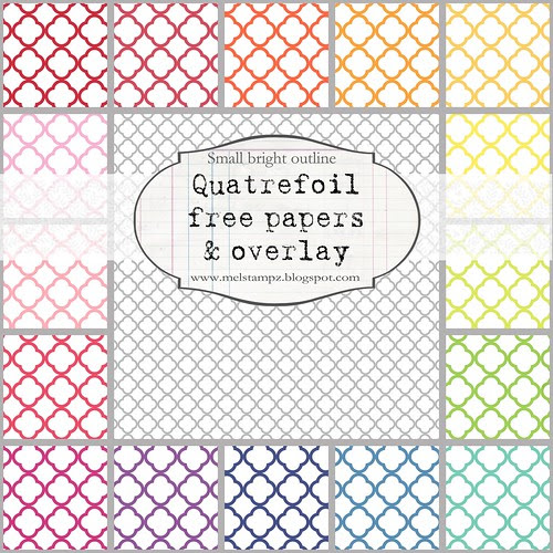PREVIEW quatrefoil A small bright outline