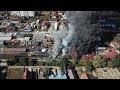 FOTO VIDEO Imagini aeriene spectaculoase cu incendiul uriaș din Burdujeni