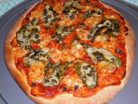 Caper and Basil Pizza