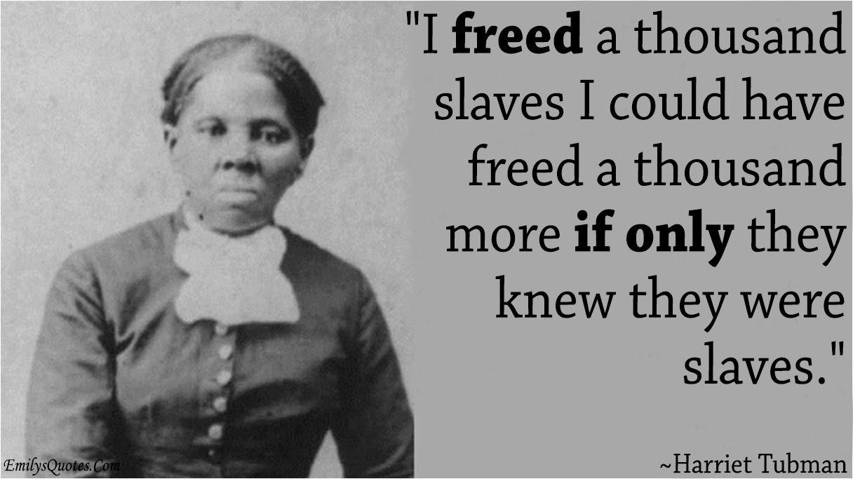 I Freed A Thousand Slaves I Could Have Freed A Thousand More If Only