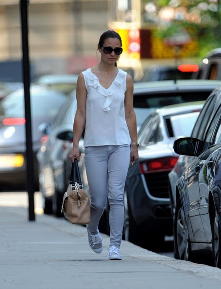 Pippa Middleton looks ready for summer as she strolls in South Kensington on June 7, 2013.