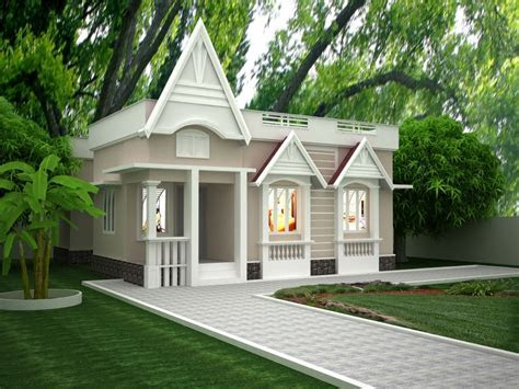 single story exterior house designs simple  story