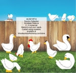 Country Critters Scrollsaw Collection Woodworking Pattern Set - fee plans from WoodworkersWorkshop® Online Store - on the farm,ducks,scrollsawing,yard art,painting wood crafts,scrollsawing patterns,drawings,plans,woodworkers projects,workshop blueprints