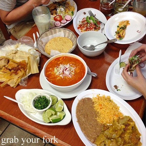 mexican feast at tamales lilianas restaurante mexican in east los angeles