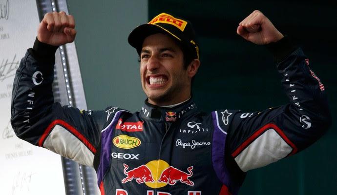Daniel Ricciardo RBR pódio gp da austrália (Foto: Agência Reuters)