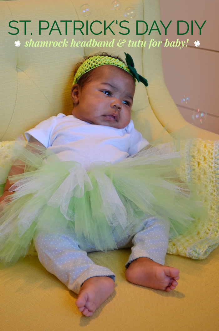 St Patricks Day Diy Shamrock Headband Tutu