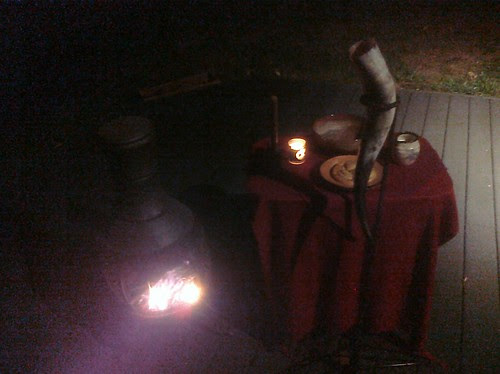 Altar for Solo Winter Finding Ritual