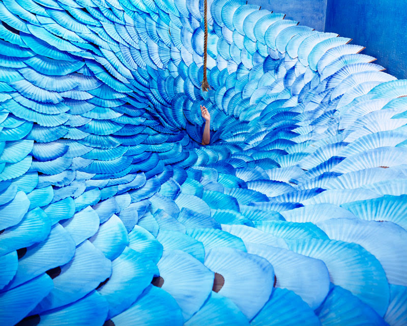 Artist JeeYoung Lee Converts Her Tiny Studio Into Absurdly Elaborate Non Digital Dreamscapes surreal installation