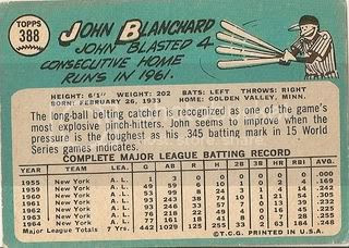 #388 Johnny Blanchard (back)