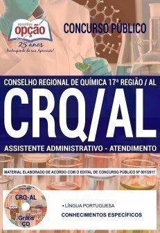 Apostila concurso CRQ17 Região ASSISTENTE ADMINISTRATIVO - ATENDIMENTO