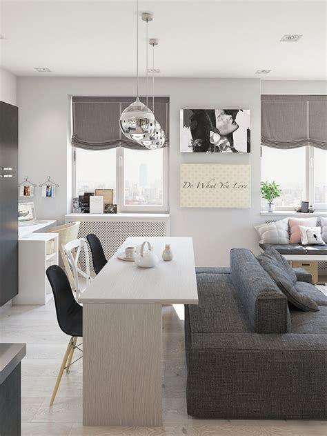studio apartment interior design  cute decorating