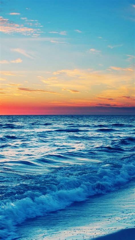 stunning ocean sunset iphone  wallpaper  beach