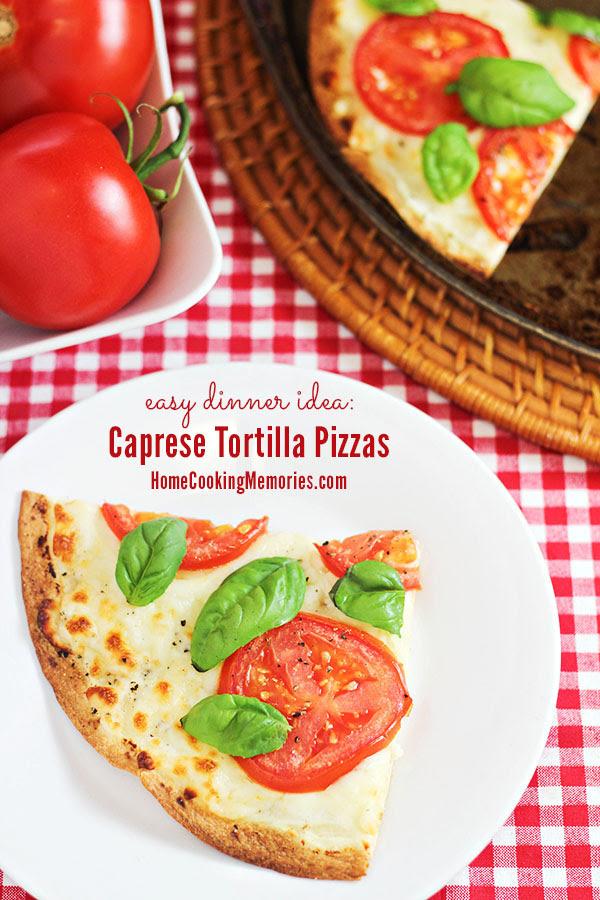 Caprese Tortilla Pizzas