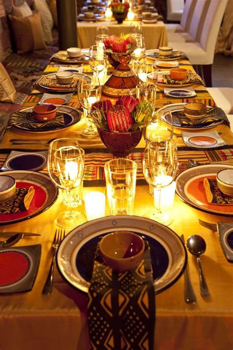 A beautiful African table setting!   African recipes