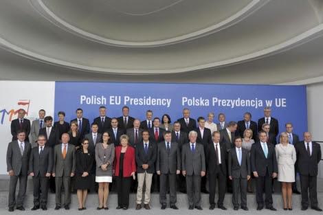 Ministros de justicia e interior de la UE reunidos este martes en Sopot, Polonia. | Efe