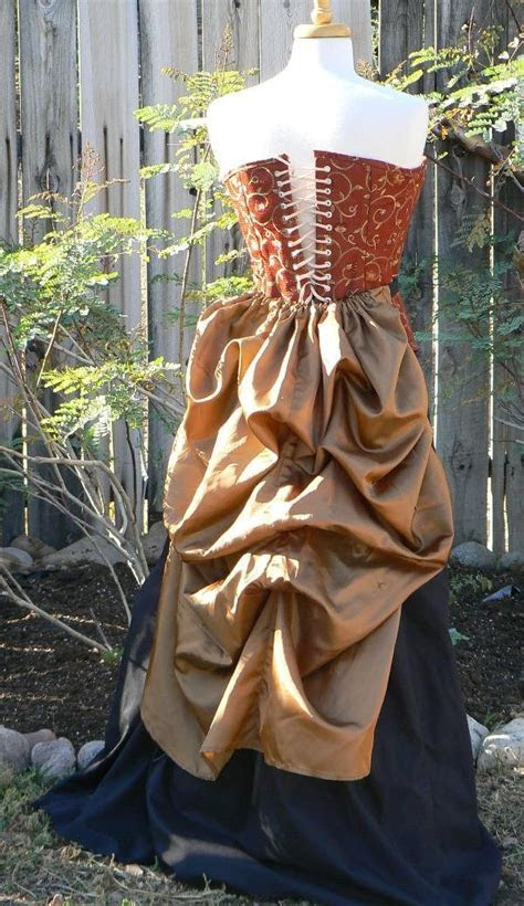 Victorian Steampunk Fashion Taffeta Bustle Skirt