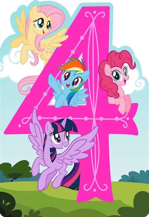 My Little Pony® Happy Spirit Musical 4th Birthday Card