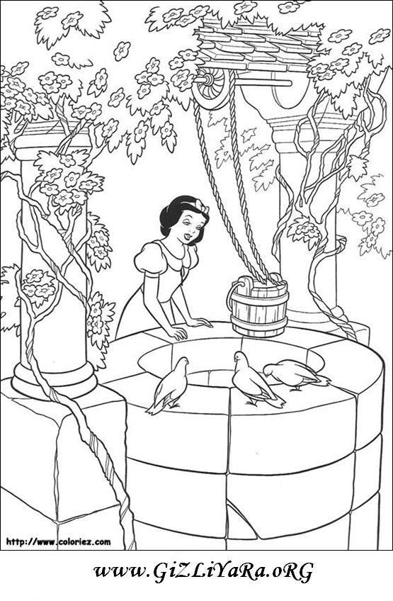 Pamuk Prenses Boyama Sayfaları Boyama Sayfası örnekleri Komik Fipixde