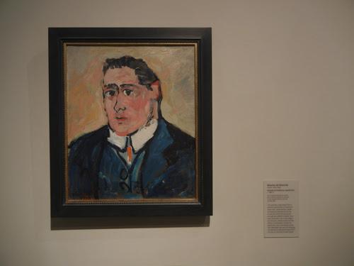DSCN7926 _ Portrait of Guillaume Apollinaire, c. 1904-1905, Maurice de Vlaminck (1876-1958), LACMA