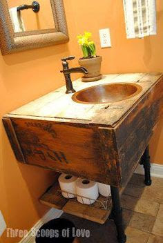Pine Sink Consoles - Kitchen Layout and Decorating Ideas