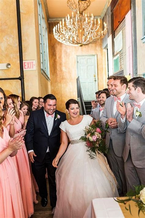 Jordan & Colleen's Modern, Pink & White, Mormon Wedding in
