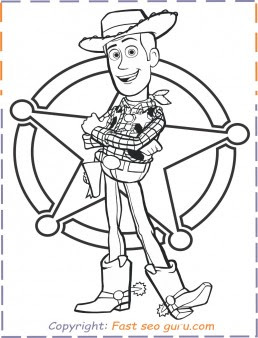 Toy Story 4 Woody Coloring Pages - Free Printable Coloring ...