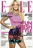 CARRIE UNDERWOOD FRONTS 'ELLE', SCORES 15TH NO.1 SINGLE AND VOICES GAY MARRIAGE SUPPORT