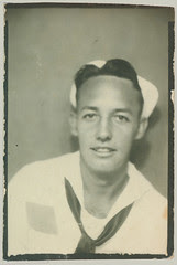 photobooth man in sailor uniform