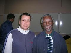 Con el Presidente Thabo Mbeki