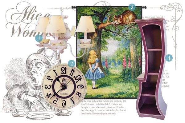 Alice in Wonderland-inspired home décor